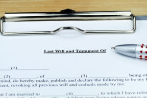 Last will and testament in a law firm in Jacksonville.